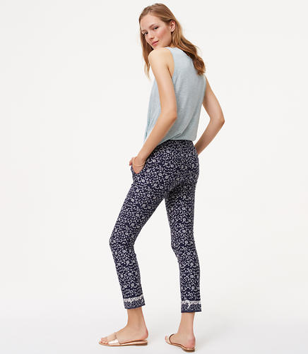 Image of Petite Floral Essential Skinny Ankle Pants in Marisa Fit