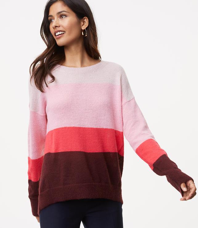 Striped Boyfriend Sweater | LOFT