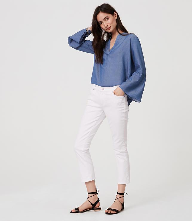 Modern Kick Crop Jeans in White