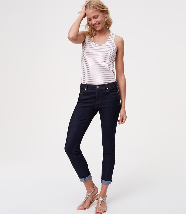 Petite Modern Skinny Jeans in Dark Rinse Wash