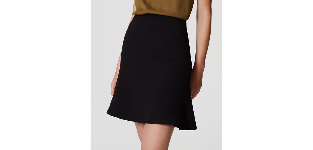 LOFT Seamed Flippy Skirt