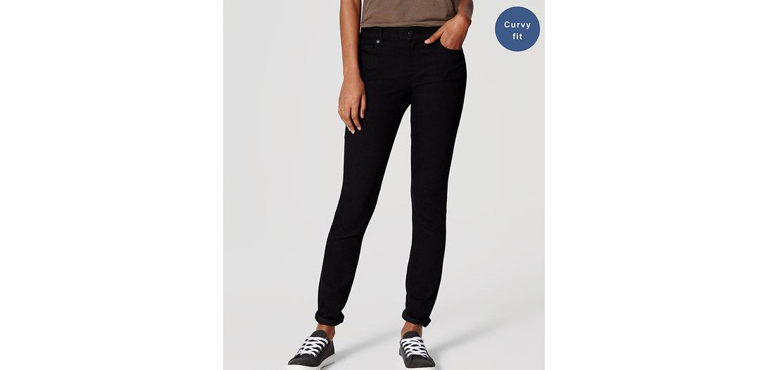 LOFT Tall Curvy Skinny Jeans in Black