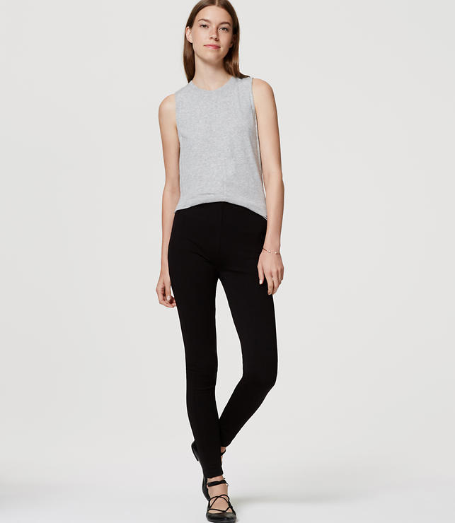Tall Leggings in Seamed Ponte