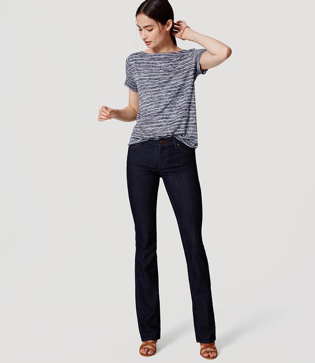 Petite Modern Bootcut Jeans in Dark Rinse Wash
