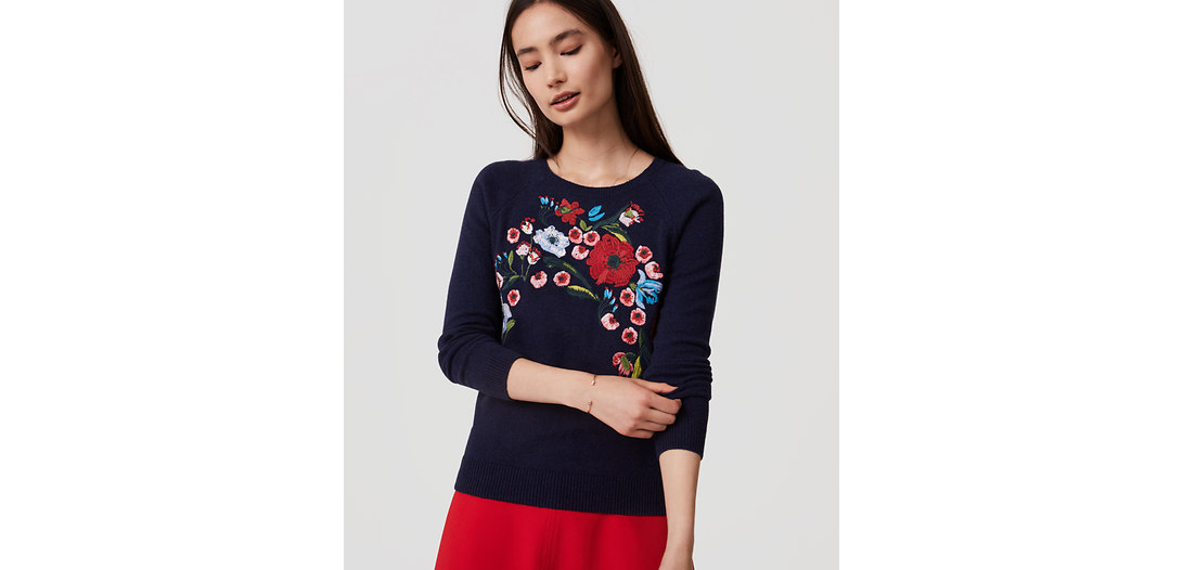 LOFT Bouquet Sweater