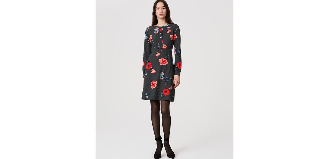 LOFT Floral Breeze Shirtdress