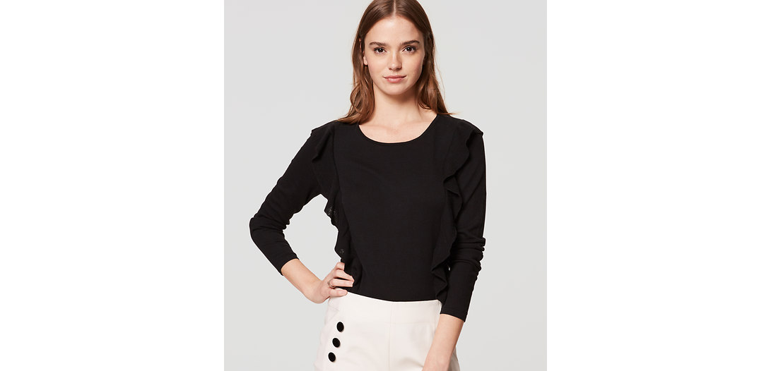 LOFT Ruffle Sweater