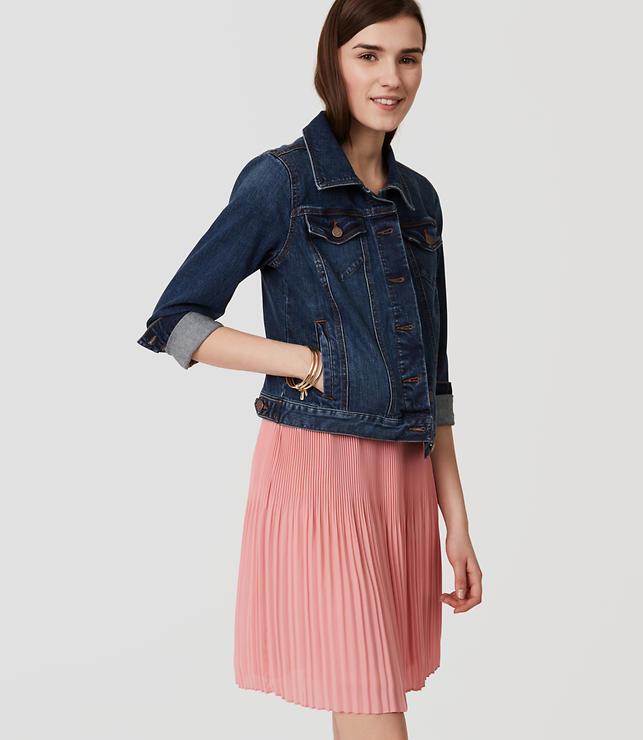 Fluid Pleated Skirt | LOFT