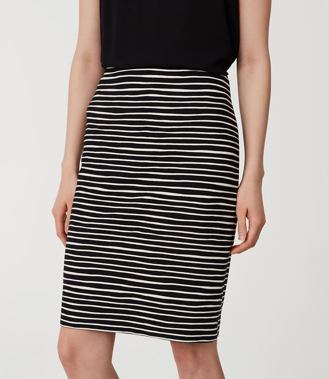 Striped Pull On Pencil Skirt | LOFT