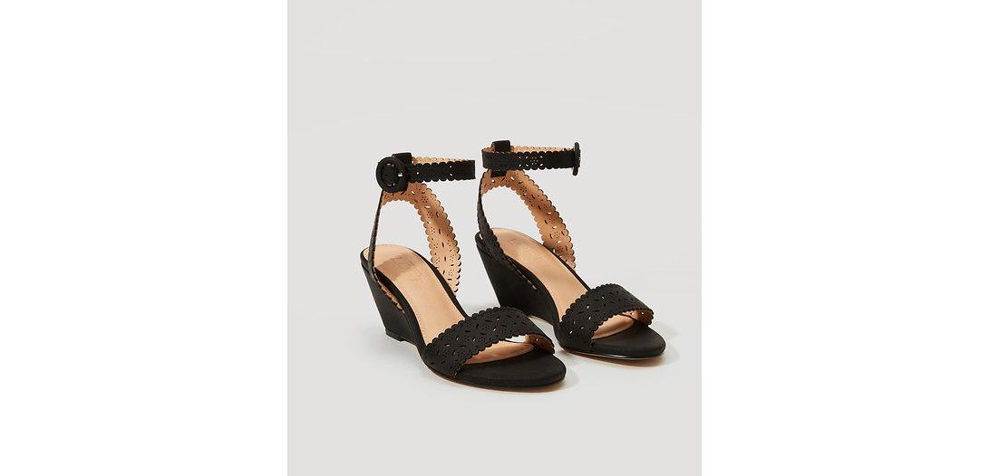 LOFT Cutout Wedge Sandals