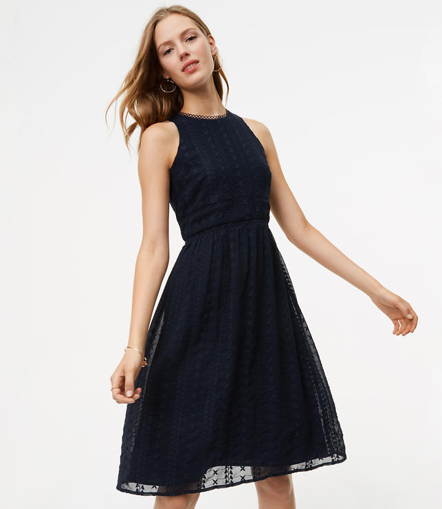 Circle Lace Embroidered Flare Dress