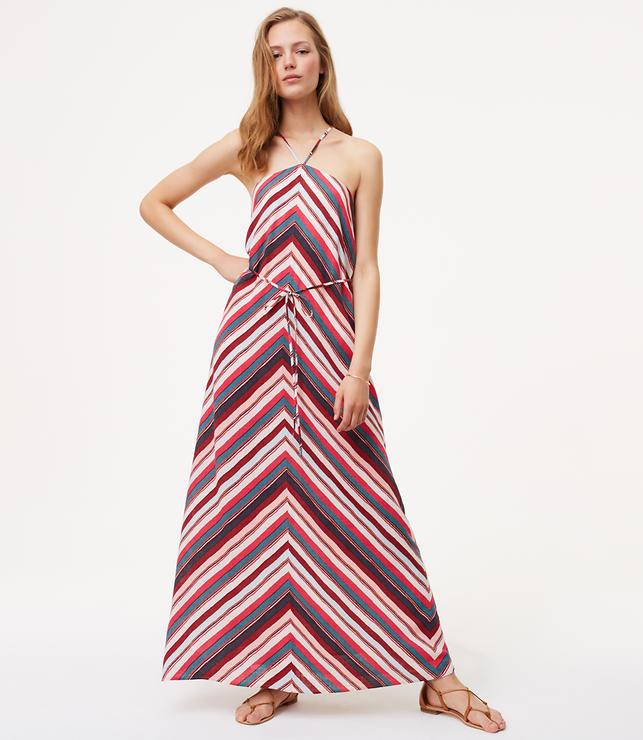 Tall Chevron Halter Maxi Dress