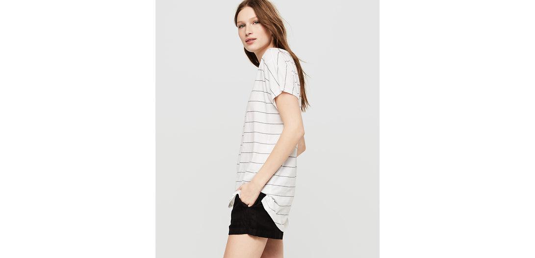 LOFT Lou & Grey Striped Softserve Cotton Tunic Tee