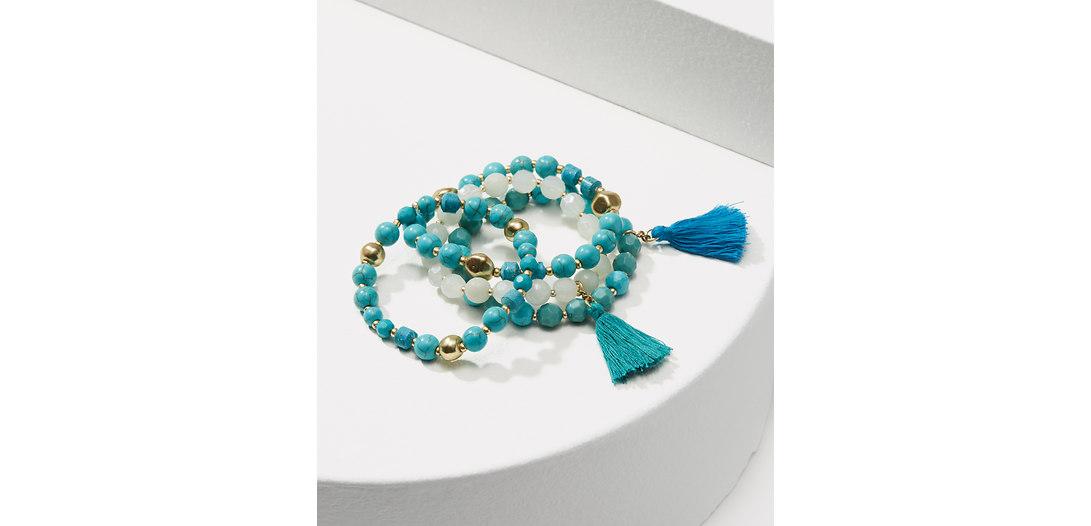 LOFT Tassel Stretch Bracelet Set