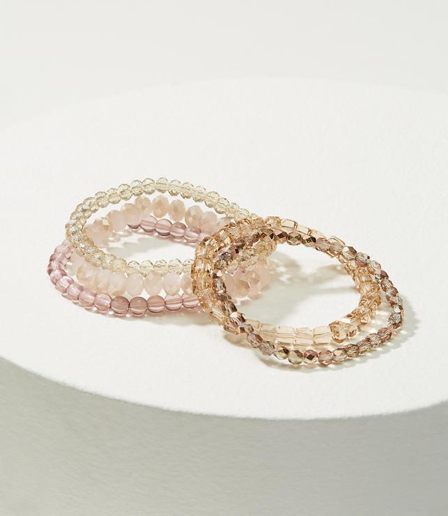 Iridescent Beaded Stretch Bracelet Set