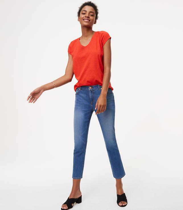 Tall Modern Kick Crop Jeans in Vivid Indigo Wash