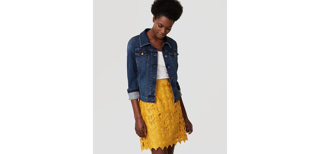 LOFT Sunny Lace Skirt
