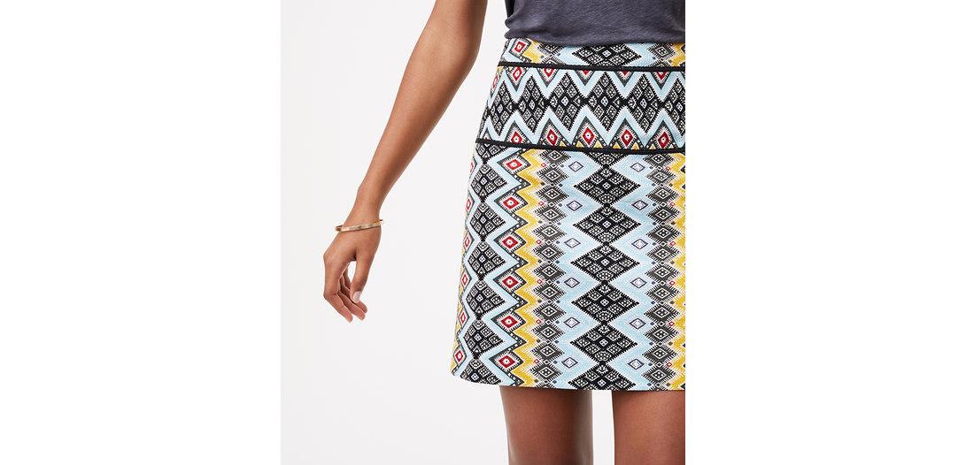 LOFT Boho Shift Skirt