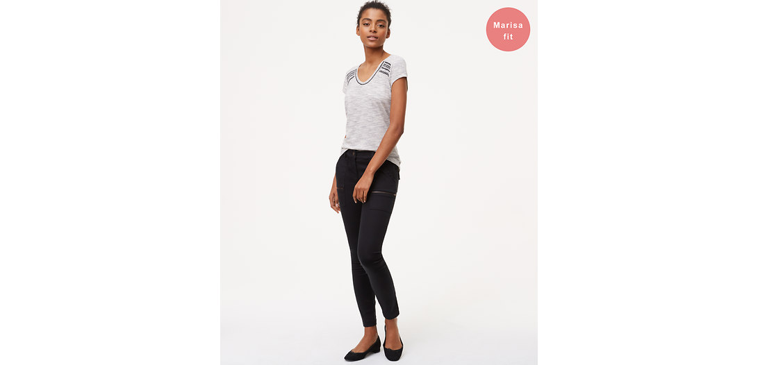 LOFT Zip Skinny Utility Pants in Marisa Fit