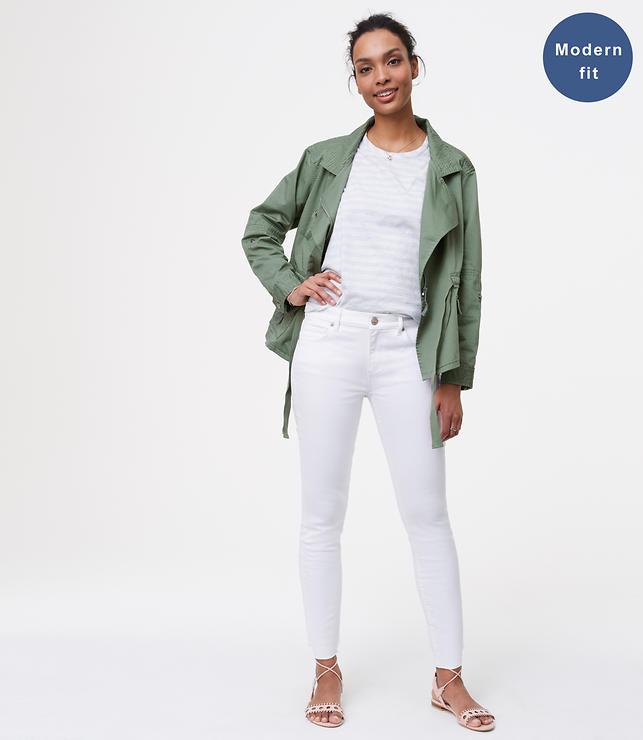 Modern Fresh Cut Skinny Jeans in White