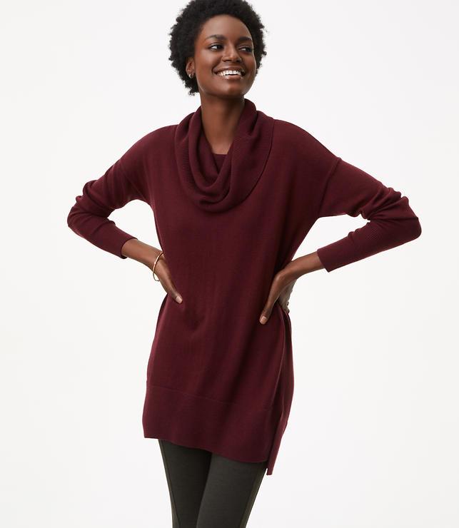 Petite Cowlneck Tunic Sweater