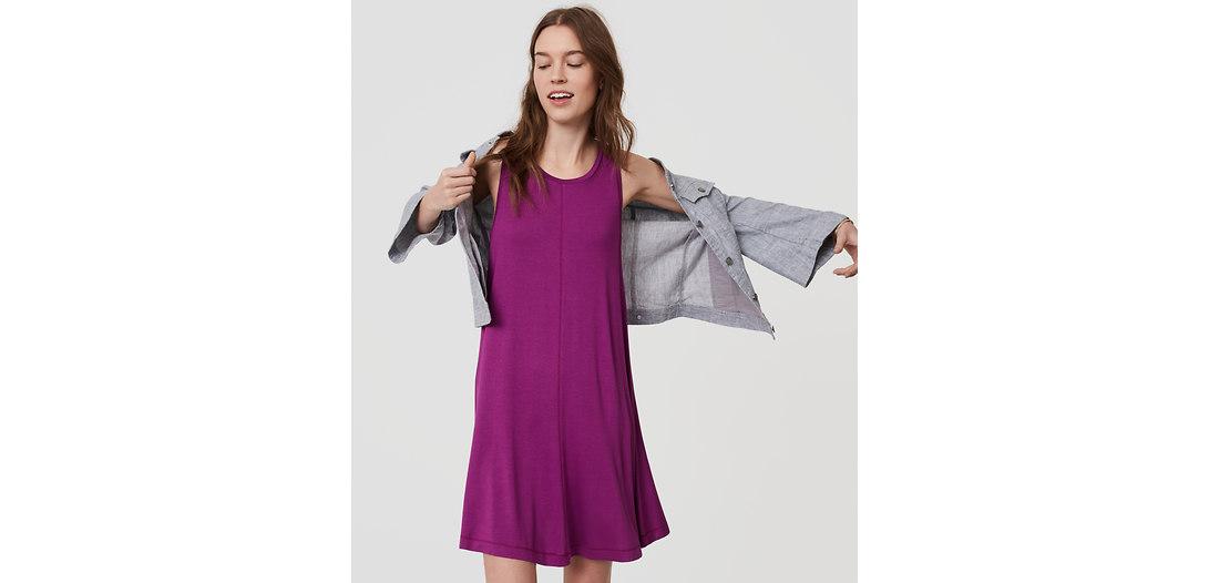 LOFT Sleeveless Swing Dress