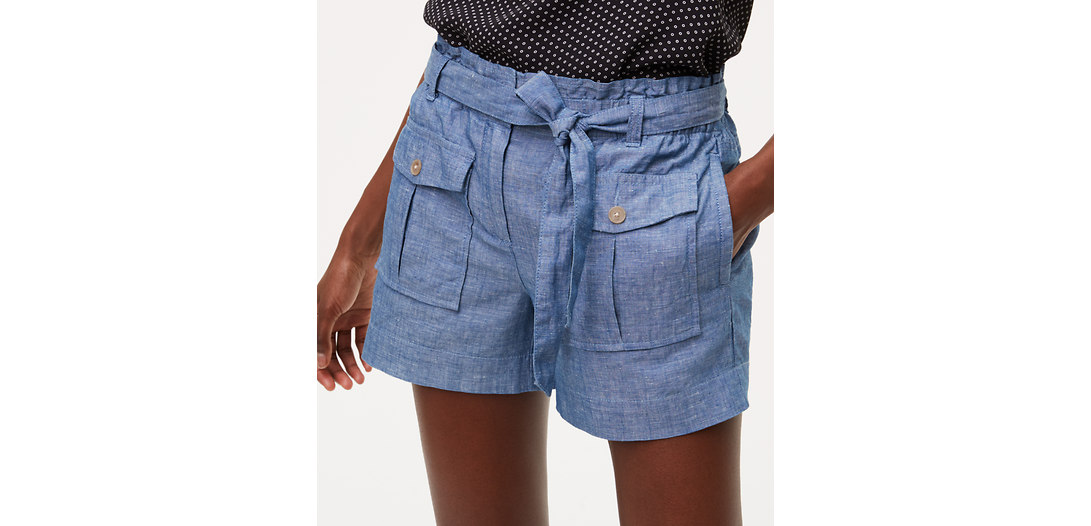 LOFT Chambray Safari Shorts