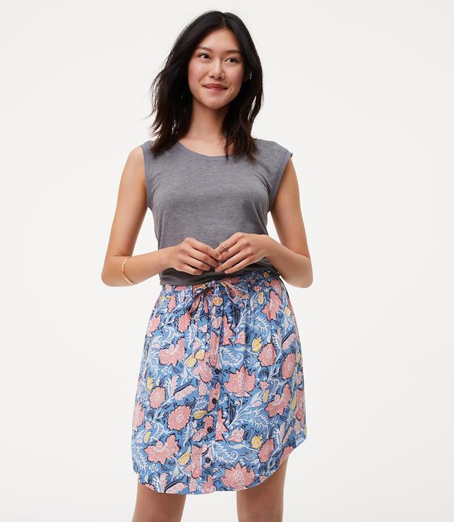 Wildflower Button Down Skirt