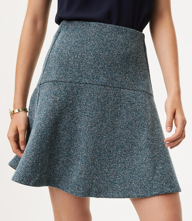 Herringbone Flare Skirt