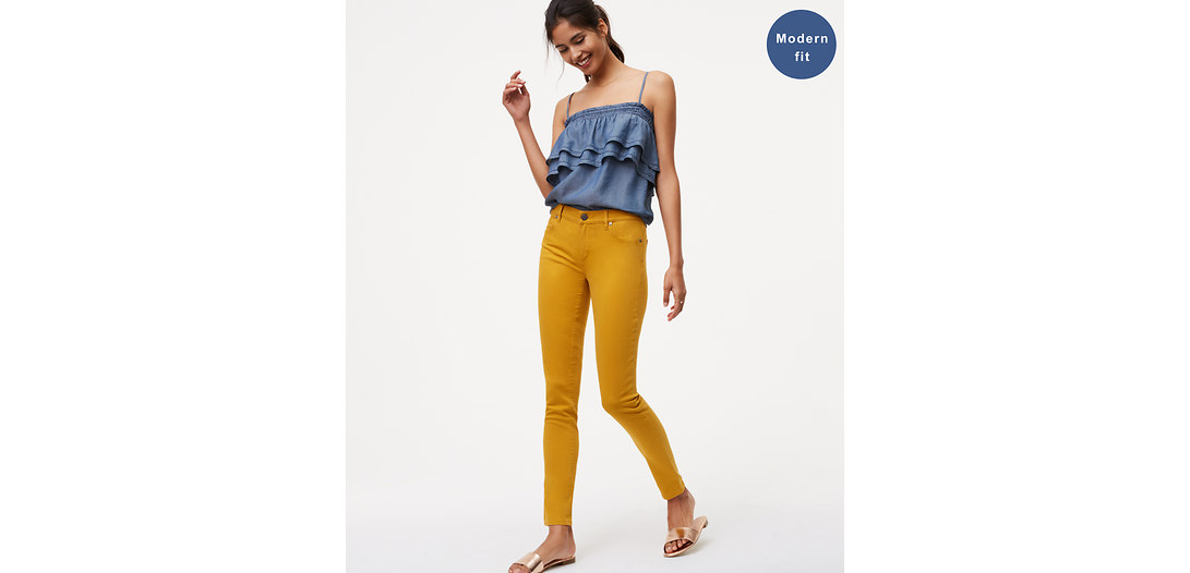 LOFT Modern Skinny Jeans in Grotto Teal