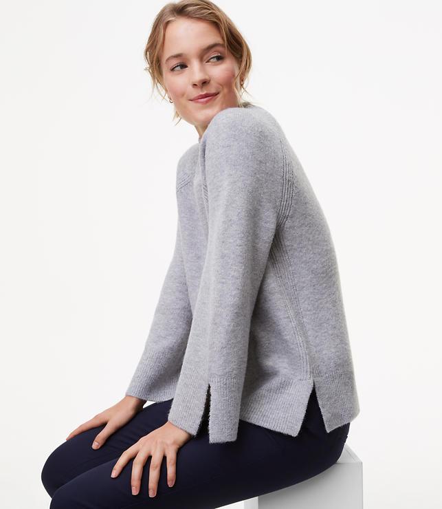 Slit Mockneck Sweater