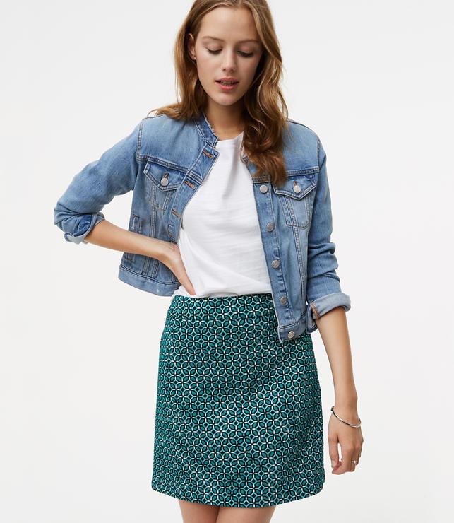 Tiled Jacquard Mini Skirt