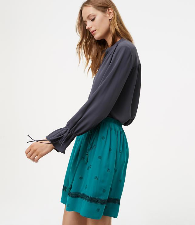 Petite Bloom Side Tie Skirt