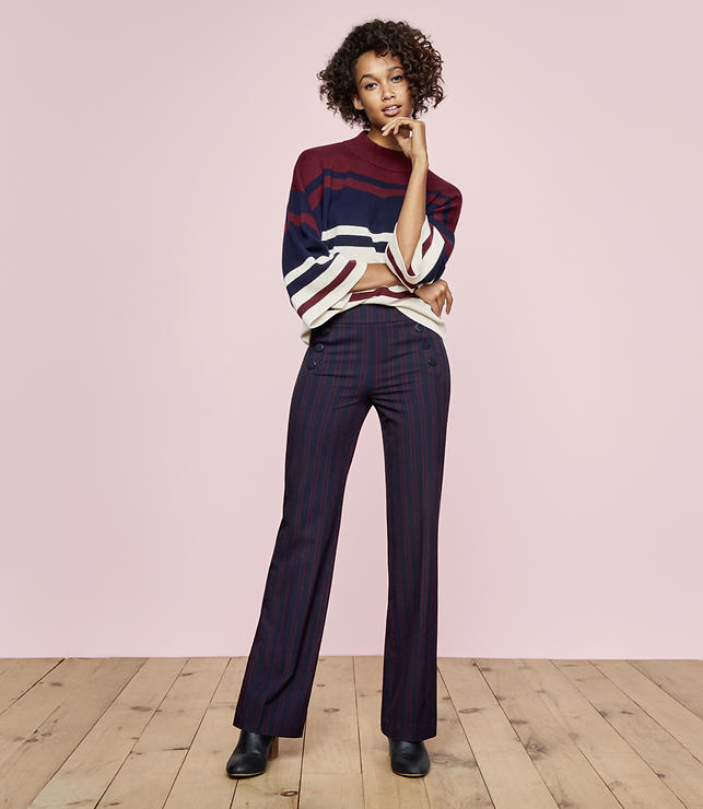 Trousers in Sailor Stripe in Marisa Fit