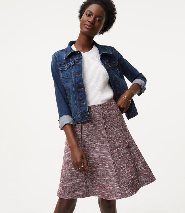 Shimmer Flare Skirt