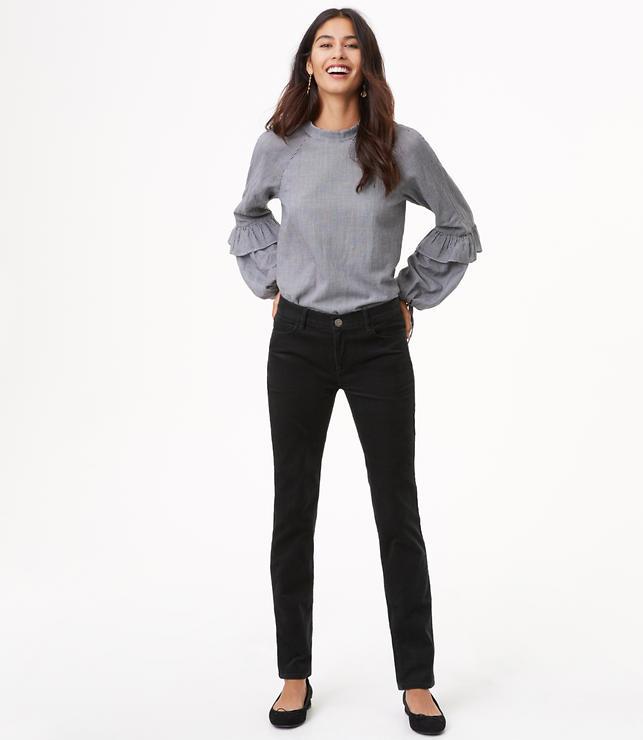 Straight Leg Corduroy Pants in Modern