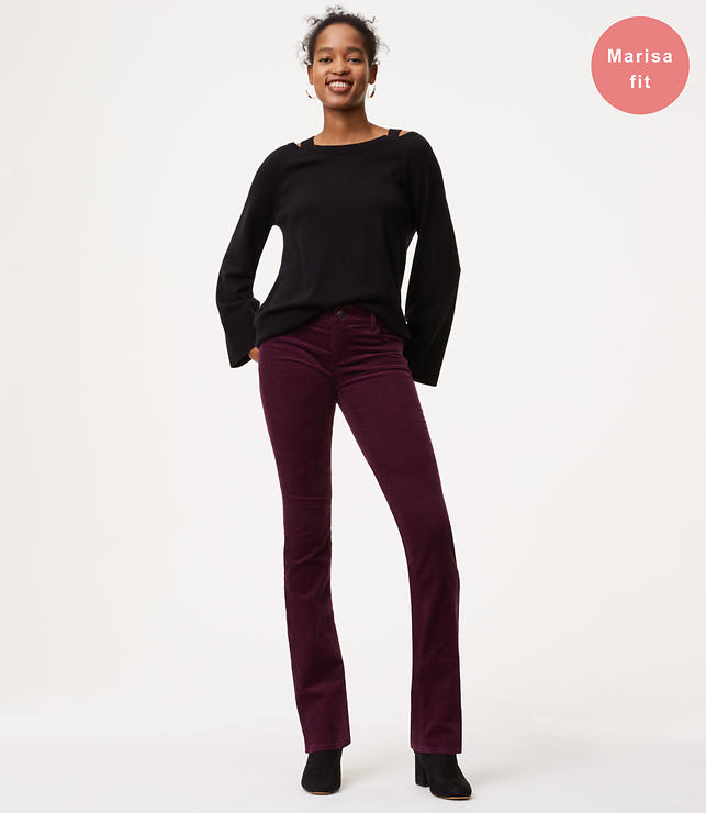 Bootcut Corduroy Pants in Modern