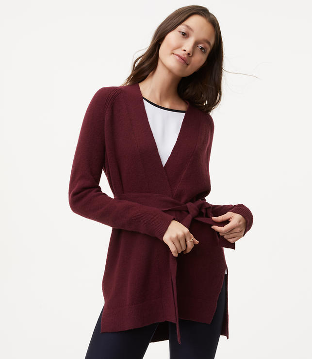 Seamed Belted Cardigan
