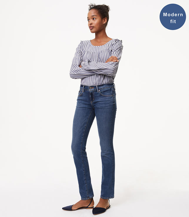 Modern Straight Leg Jeans in Mid Staple Indigo Wash