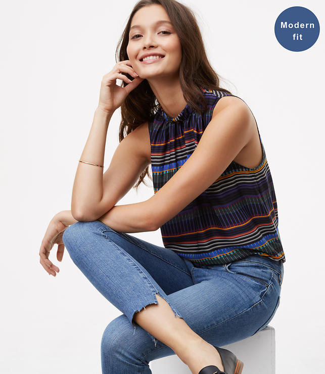 Modern Step Hem Skinny Jeans in Light Enzyme Wash