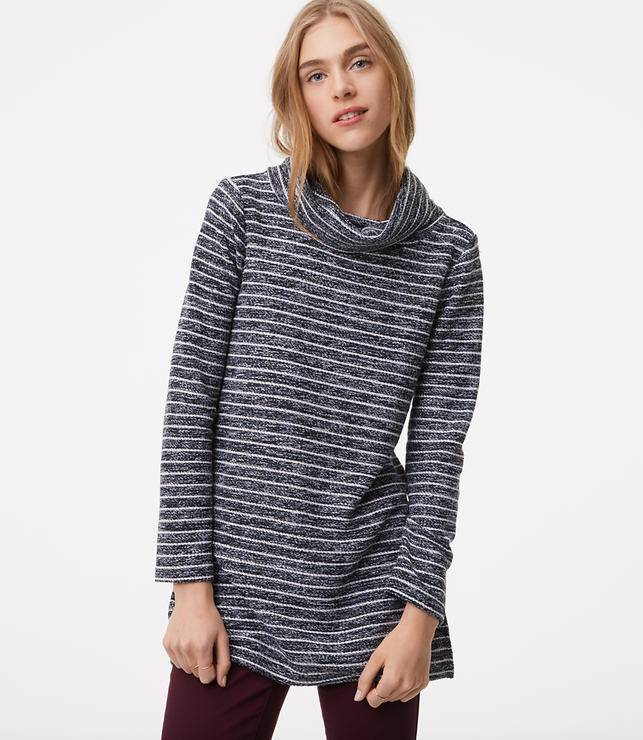 Striped Cowl Tunic