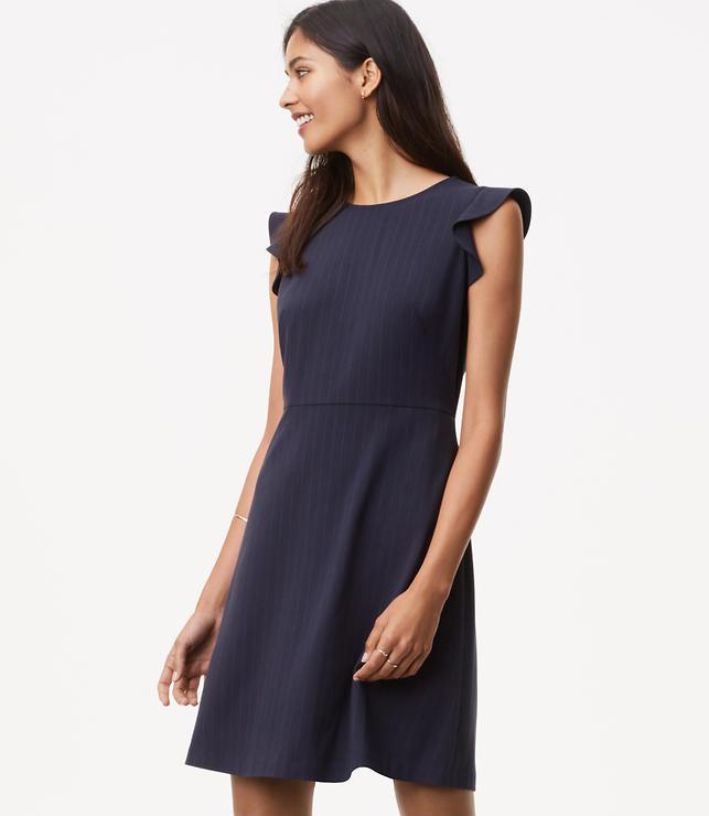 Pinstripe Flutter Dress