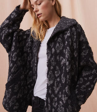 Lou & Grey Spotted Washed Boucle Cardigan