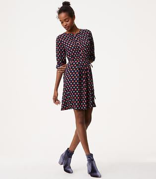 LOFT Petite Fall Mosaic Shirtdress