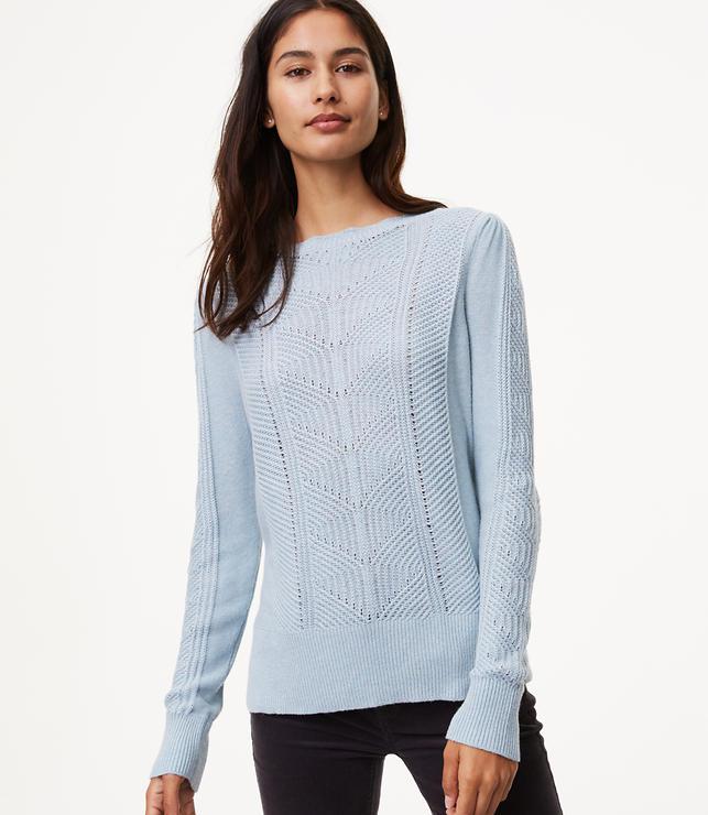 Mixed Chevron Sweater