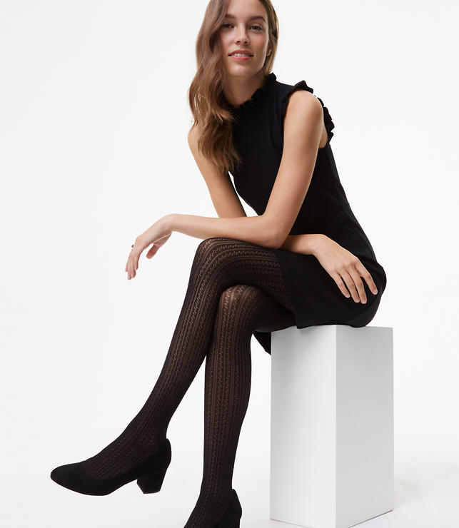 Linear Pointelle Tights