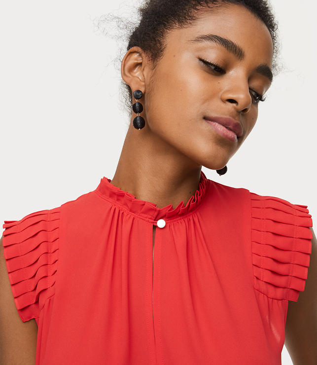 Pleated Shoulder Shell