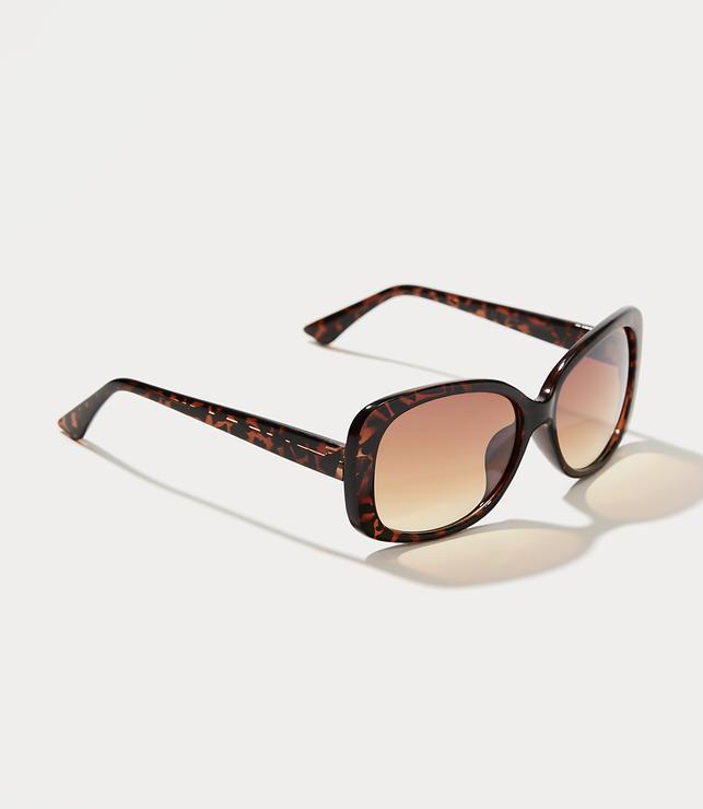 Tortoiseshell Print Modern Cateye Sunglasses