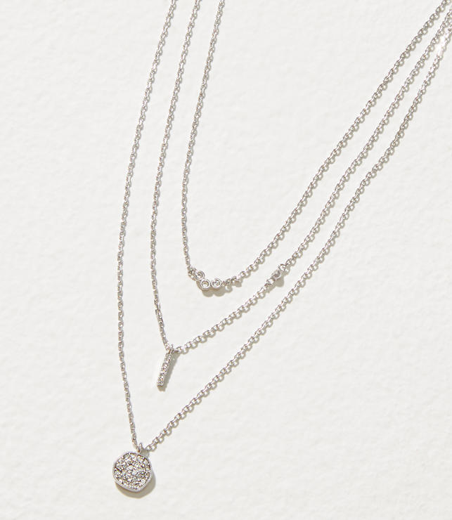 Delicate Pave Layered Necklace