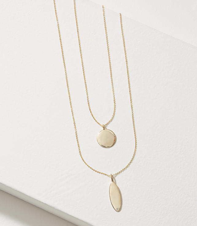 Gilded Pendant Layering Necklace Set